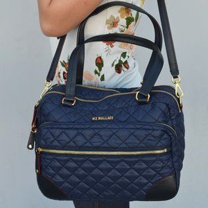 NWT Mz Wallace Large Crosby Quilted Shoulder Bag